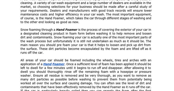 CAR CARE TOOLS provide the range Hand Foamer for your car cleaning. https://docs.google.com/document/d/1r7Q_MeoGp-dc60cZot-1_rNngQCkiMH2P1znnMTdrhI/edit?pref=2&pli=1