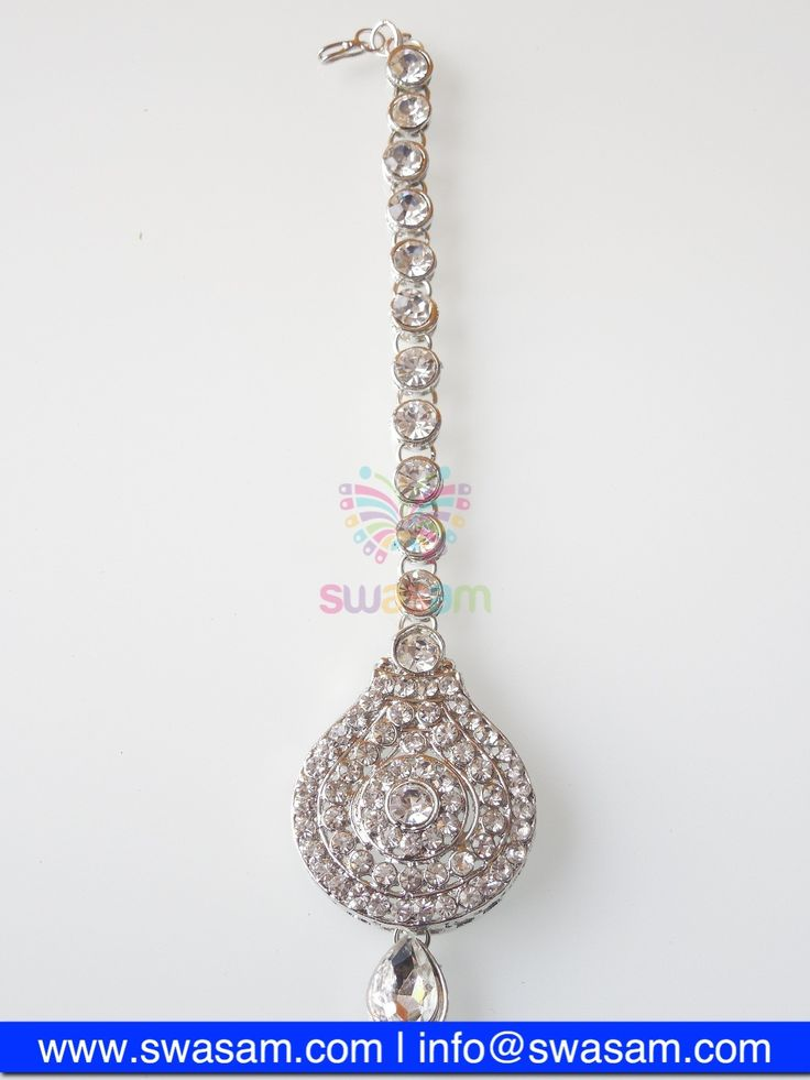 Indian Jewelry Store | Swasam.com: Tikka with Perls and White Stones - Tikka - Jewelry Shop to Buy The Best Indian Jewelry  http://www.swasam.com/jewelry/tikka/tikka-with-perls-and-white-stones-1343.html?___SID=U  #indianjewelry #indian #jewelry #tikka