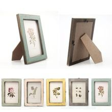 Vintage Photo Frame Home Decor Wooden Wedding Casamento  Desktop  Wall Picture Frame Free Shipping(China (Mainland))