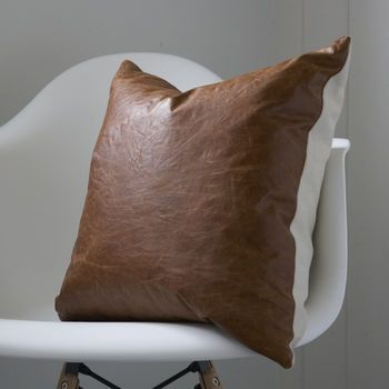 Crinkle Leather Cushion