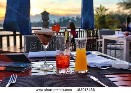 cocktail bar  - stock photo