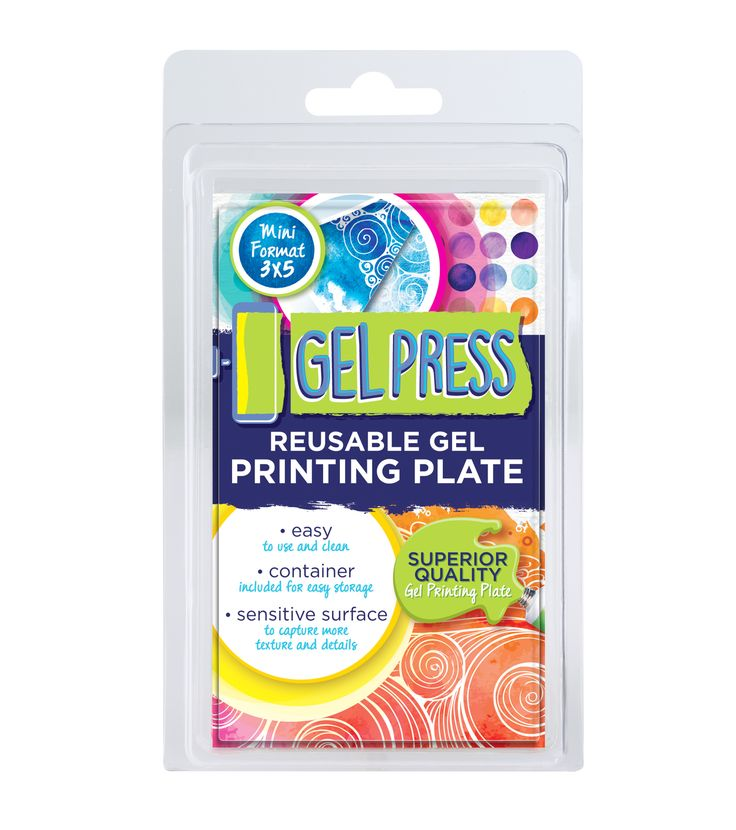 """3"""" x 5"""" Plate 1 Plate...Endless Possibilities!Super sensitive surface to capture more texture and detailsEasy to use and cleanContainer included for easy storageMade in the USANon-Toxic /Latex Free"""
