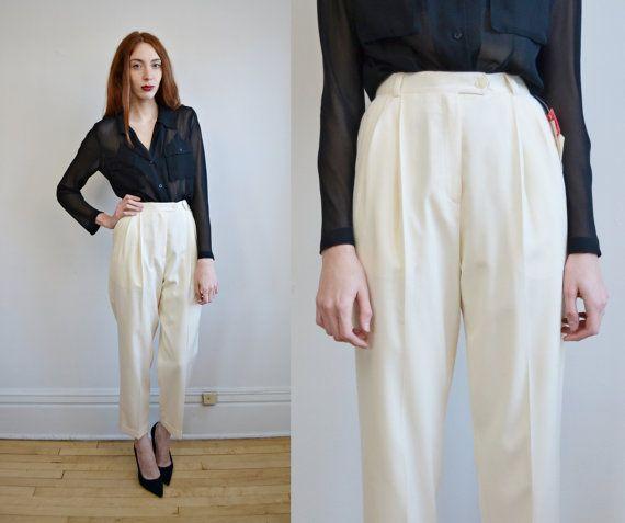 High waist dresses, Wool and Dress pants on Pinterest