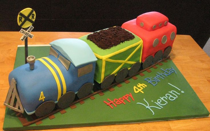 Train Cakes for Boys | Cakes for your style? This 3D train cake from Sweet Cakes is lovely!}
