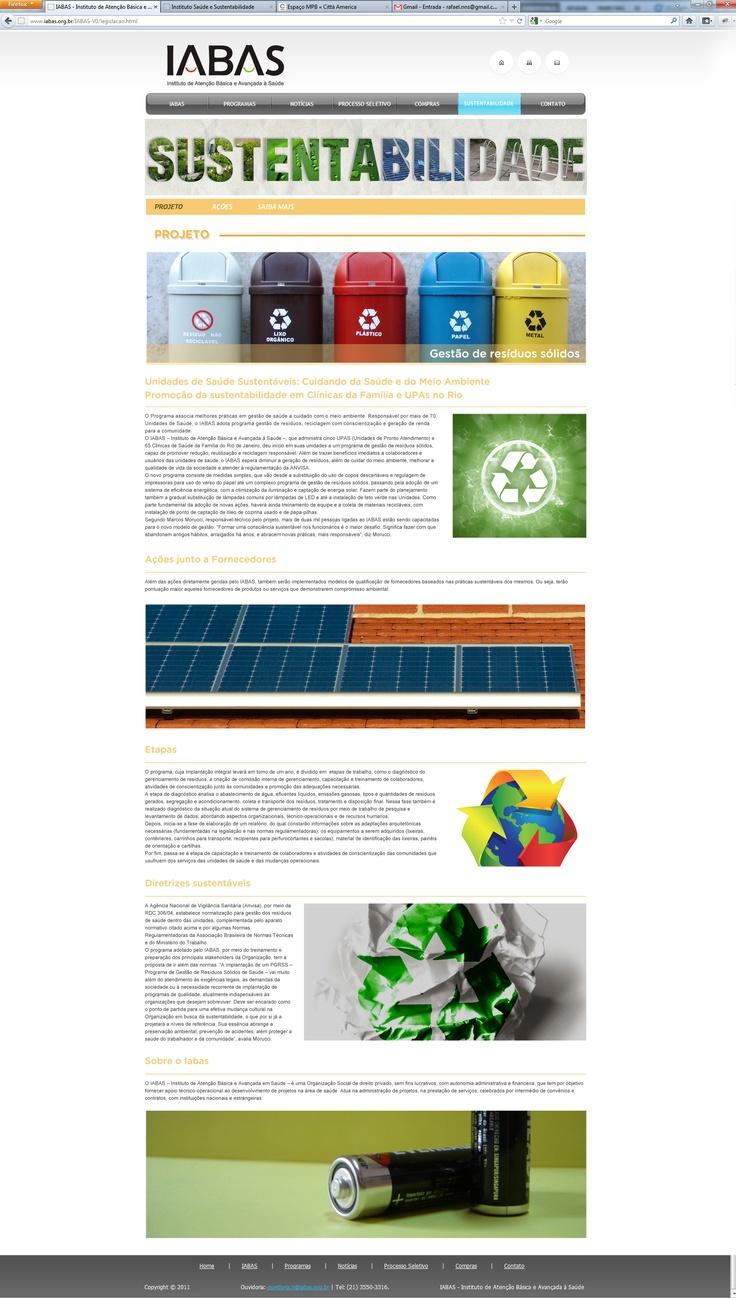 página projeto