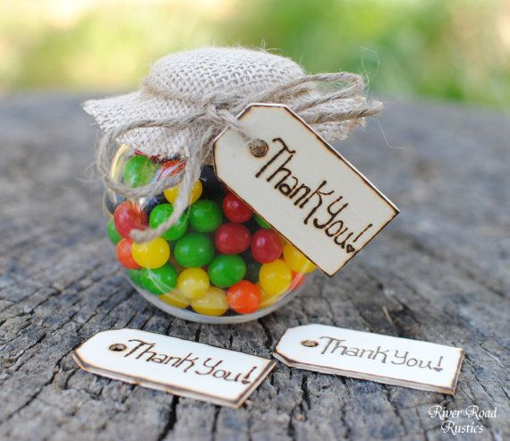 Rustic Wedding Favor Thank You Tags (Set of 50) Ships Quickly. on Etsy, $55.00