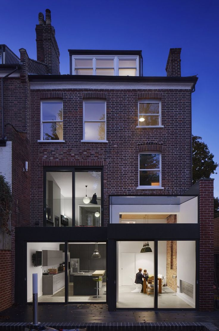 An existing semi detatched Edwardian house in Muswell