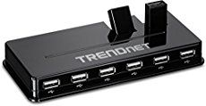 TRENDnet High Speed USB 2.0 10-Port Hub with 5V/2._.5A Power Adapter and Two Flip-Up Ports, Compatible with Mac OSX , Win, Linux, Unix, Rasberry Pi, Wii, Wii U, Chromecast, PS3/PS4, XBox, XBox One No CD Required for installation TU2-H10