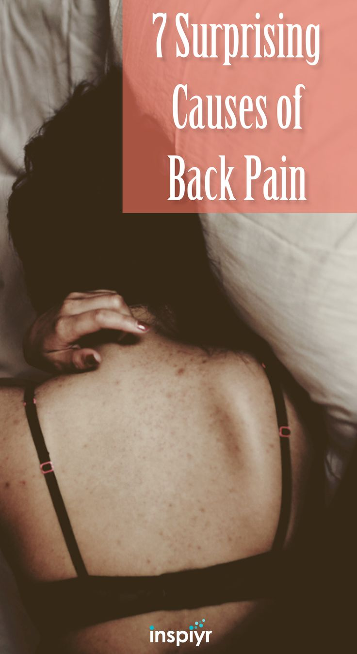 7 Surprising Causes of Back Pain by Inspiyr.com // Do you literally have a pain in your neck? How about your back? See what could be possibly causing that pain! #Inspiyr