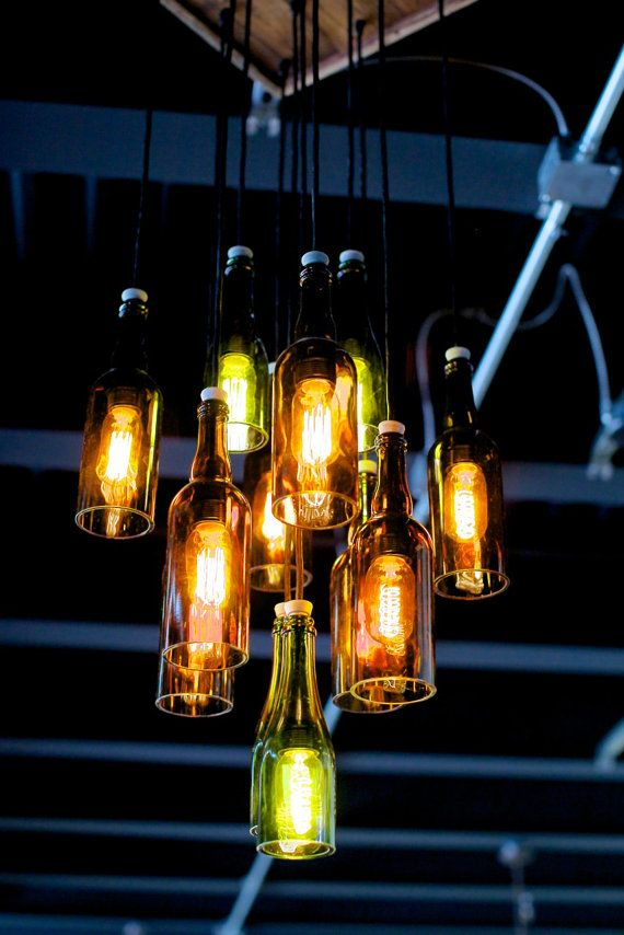 25 best ideas about chandelier lighting on pinterest for How to make your own wine bottle chandelier