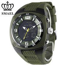 Smael caixa da liga dos homens do exército militar relógios big dial dive esporte relógios à prova d' água led digital analógico relógio de pulso dos homens ws1008(China (Mainland))
