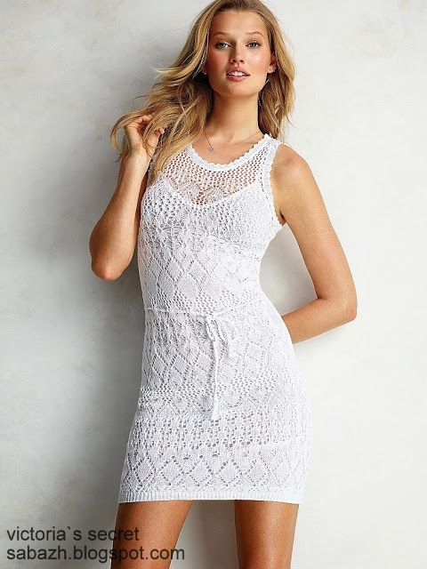 СТИЛЬНОЕ ВЯЗАНИЕ: Victoria`s Secret летние и пляжные вязаные платья