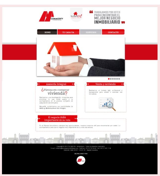 Diseño web, Tu casa ya !! http://www.yuddyhernandez.com/portafolio/html/tu-casa-ya.html