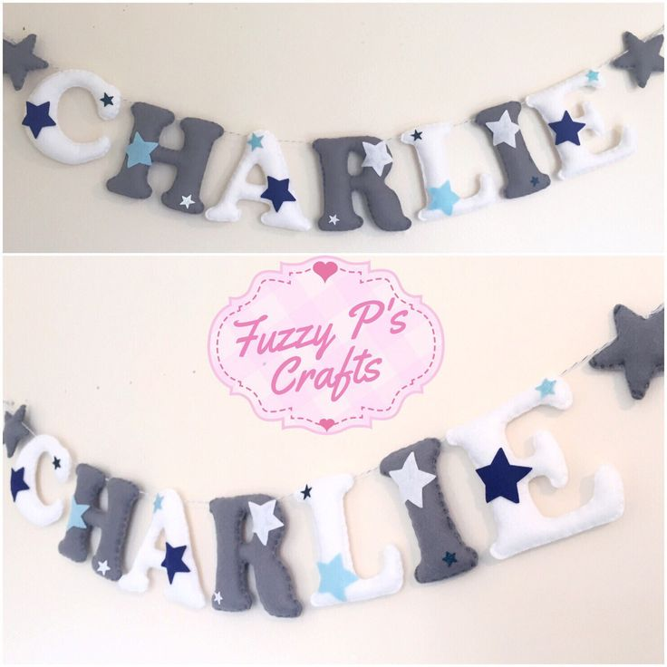 A personal favourite from my Etsy shop https://www.etsy.com/uk/listing/263696321/stars-theme-letter-garland-o-starry