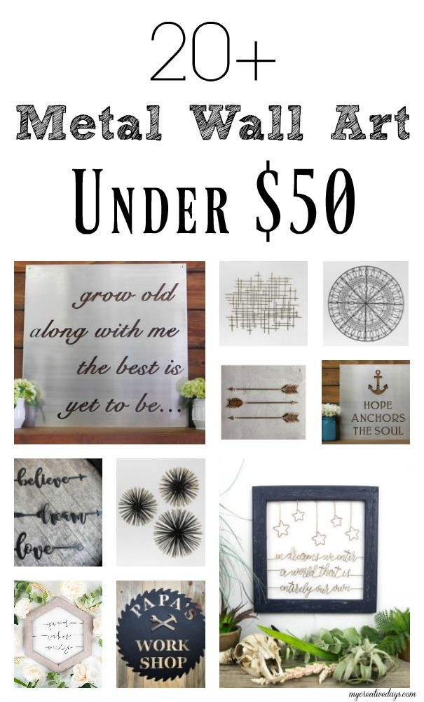 20 Metal Wall Art Under 50 My Creative Days Posts Pinterest And Diy