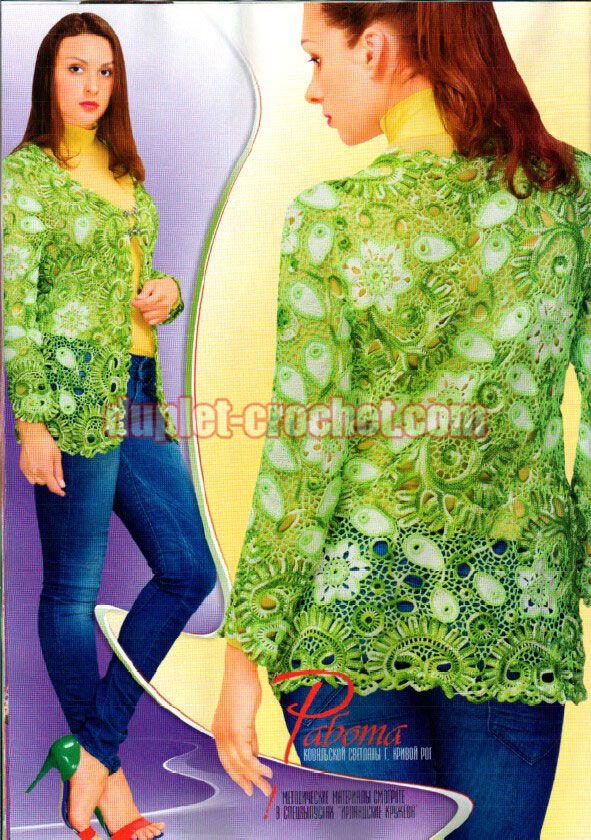 October 2014 Duplet 164 Ukrainian crochet patterns magazine