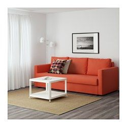 IKEA - FRIHETEN, Sofa bed, Skiftebo dark orange, , Easily converts into a bed.Large practical storage space under the seat. $500