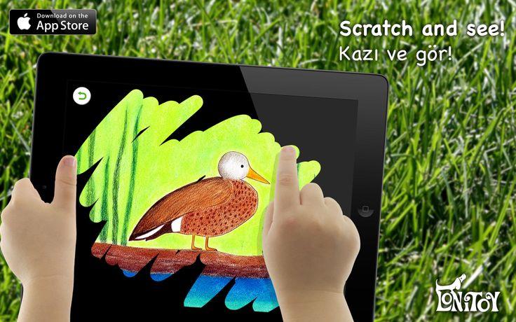 """Brand new application from our team: """"Scratch and see!"""" Scratch the surface and see what is hidden underneath! For ages 2+ Have Fun! App Store: https://itunes.apple.com/us/app/scratch-see!/id787203770?mt=8&uo=4&at=11l8HM  Yeni uygulamamız: """"Kazı ve gör!"""" Siyah boyayı kazırsan, altında nelerin gizlendiğini görebilirsin! 2 Yaş üzeri çocuklarımız içindir. İndirmek için App Store linki: https://itunes.apple.com/tr/app/scratch-see!/id787203770?mt=8&uo=4&at=11l8HM"""