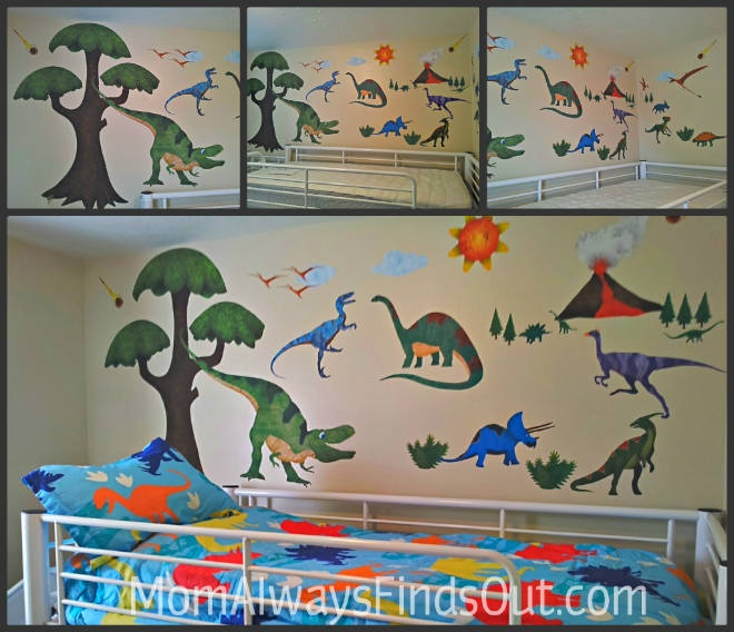 17 best images about dinosaur nursery decor ideas on for Dinosaur mural ideas