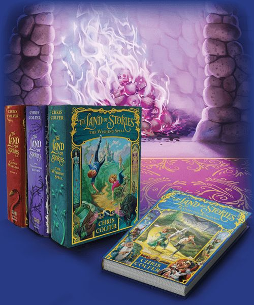 THE LAND OF STORIES by Chris Colfer.  I can read these books over and over and OVER again!!!