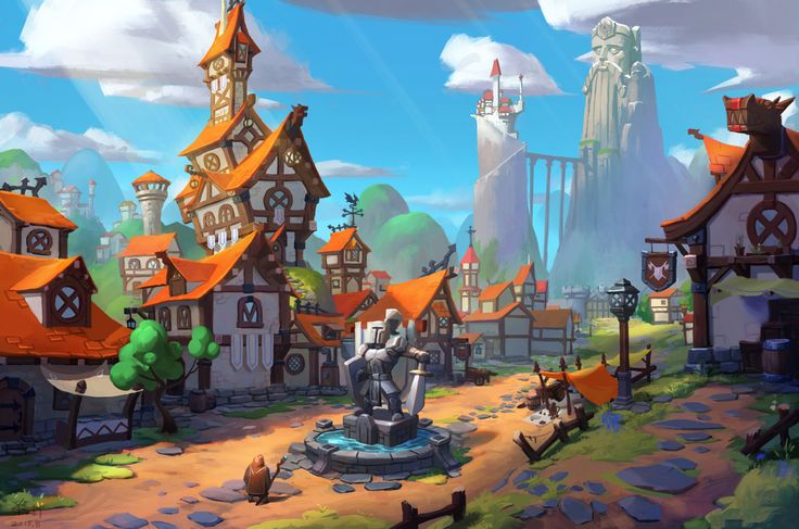 Small Town, SY -37 on ArtStation at…