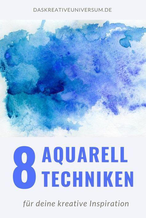 8 Aquarell Techniken für bessere Ergebnisse: In d…