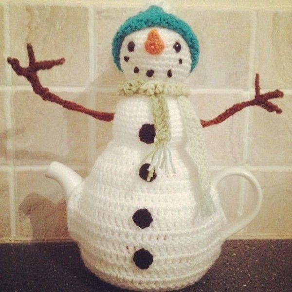 snowman tea cozy Christmas Crochet Snowmen Pinterest Tea cozy, Teas and...