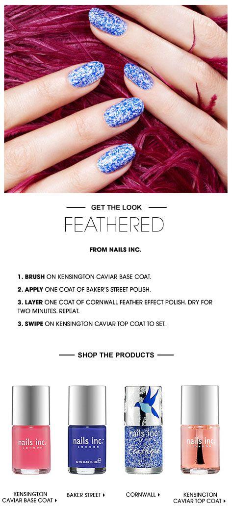 Beauty HOW TO: nails inc. Feathered Nails #Sephora #SephoraNailspotting #howto #nails #nailart