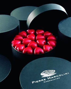 Pierre Marcolini chocolates. Isabette's favorite candy. Cost is about 100 dollars for a pound. She has expensive taste.