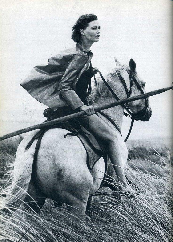 horse + rider.(norman parkinson).