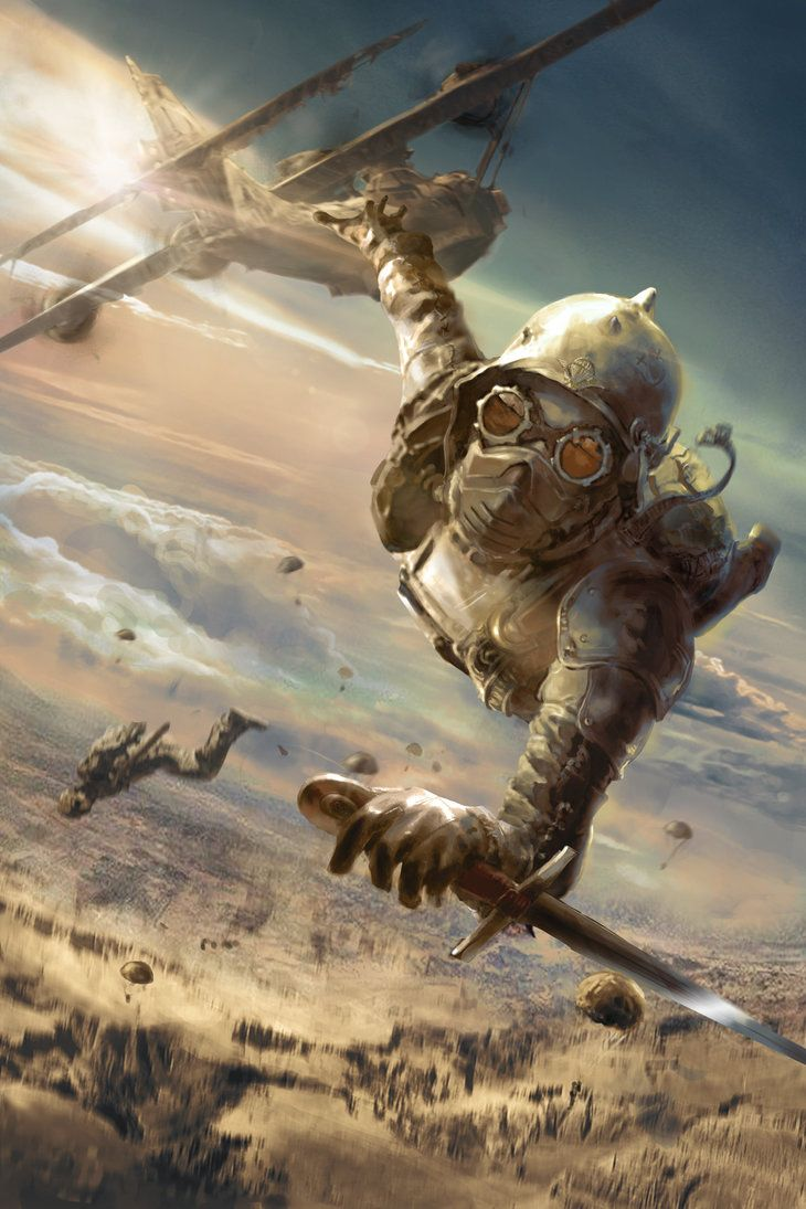 The sky soldier by FraganTanguy.★ We recommend Gift Shop: http://gosstudio.com ★  #steampunk #victorian #Art #gosstudio