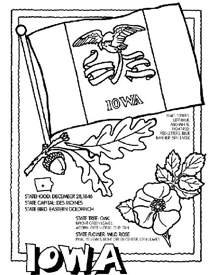 251 best images about usa coloring pages on pinterest for Iowa coloring pages