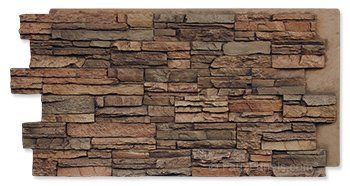 Cover foundation with faux stone panels! [Norwich Colorado Stacked Stone Earth Panel]. $90/panel