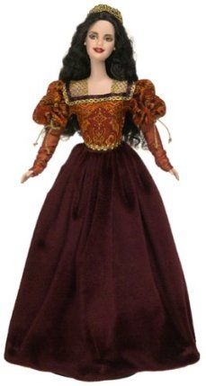 Dolls of the World - The Princess Collection: Princess of the Portuguese Empire Barbie by Mattel. $49.99. Dolls of the World - The Princess Collection: Princess of the Portuguese Empire Barbie. Part of the Dolls of the World Princess Collection, Princess of the Portuguese Empire Barbie doll wears a glorious jacquard and burgundy velvet gown inspired by Renaissance fashion. A delicate cap of golden metallic lace tops her gorgeous long, black hair. This collector's edition doll mak...