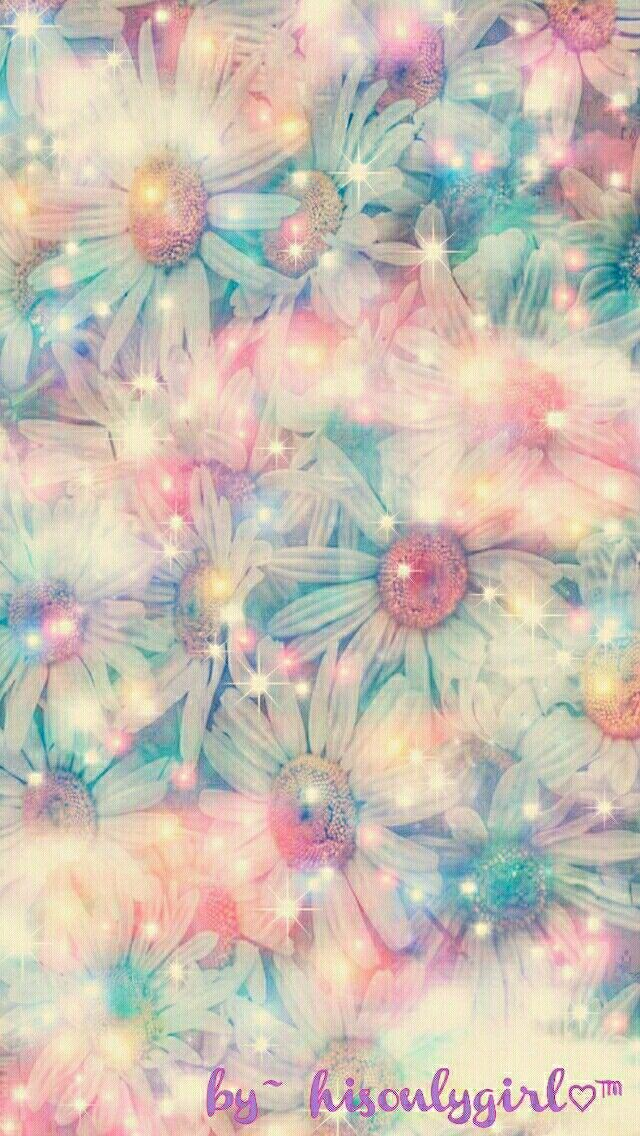 Floral galaxy wallpaper I created for the app CocoPPa.