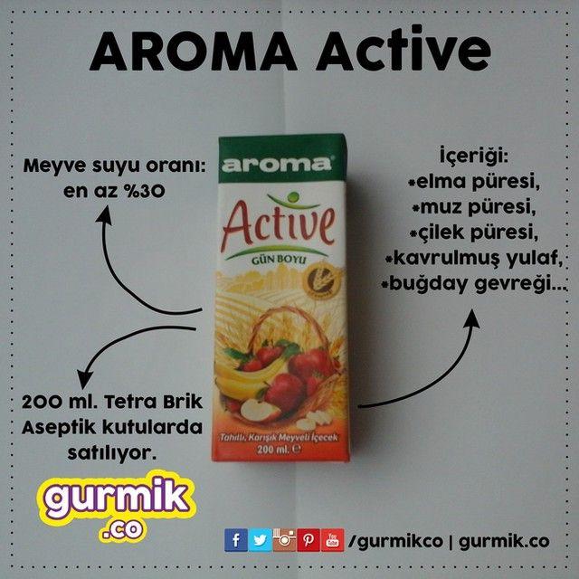 #Aroma'dan kahvaltılarınız için hazırlanmış bir ürün: Active Günboyu… İçeriğindeki buğday ve yulaf sayesinde tam bir lif kaynağı (1,1 g/100 ml).