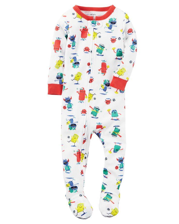 Toddler Boy 1-Piece Snug Fit Cotton PJs | Carters.com