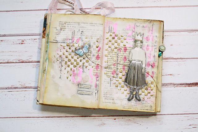 JaMajka: Light-hearted - art journal spread