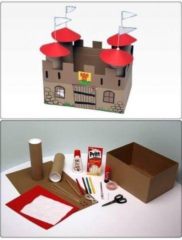 Замок из картона ! - Поделки с детьми | Деткиподелки