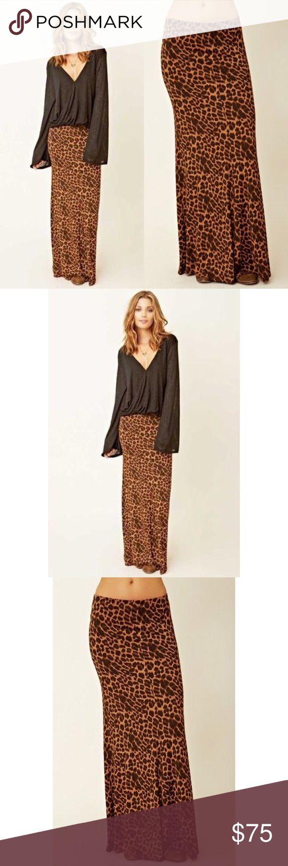 Blu Moon Leopard Maxi Skirt Leopard print stretch maxi skirt. Size Medium. 95% Viscose/5% Spandex. Brand is Blu Moon. New with tags. 🚫 Trades. Nasty Gal Skirts Maxi