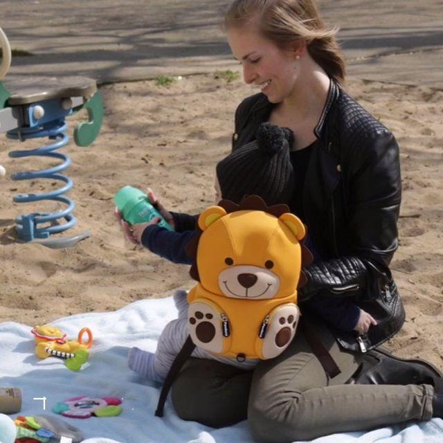 kinderrucksack lenny löwe von pandana video  löwen für