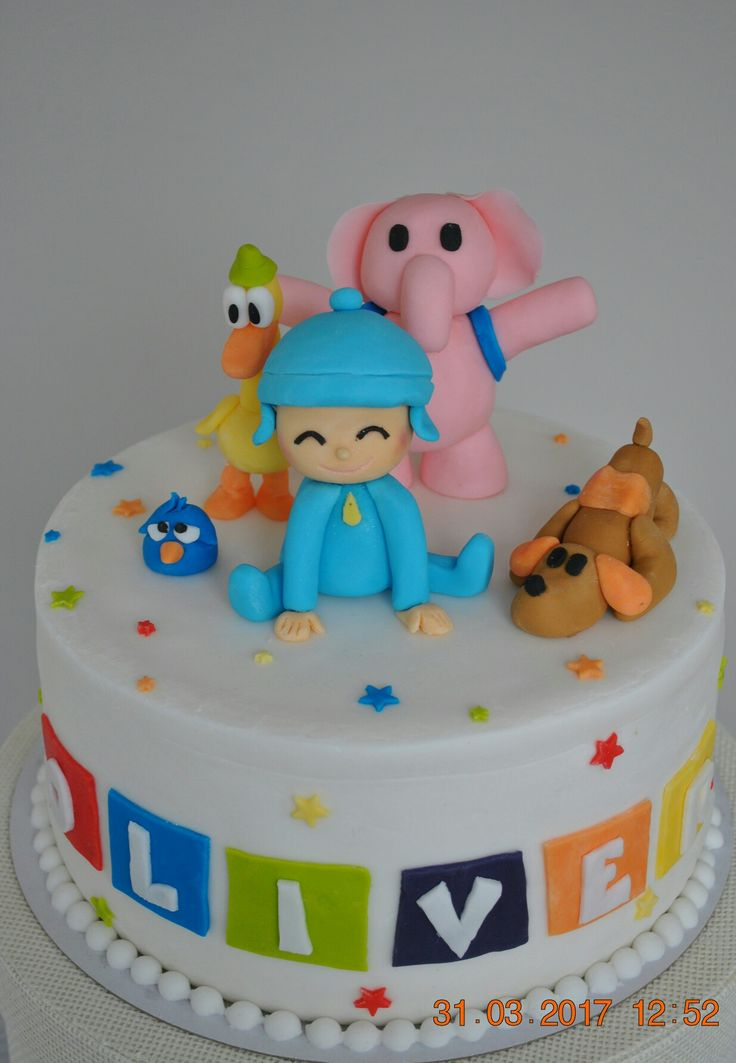 Pocoyo and friends cake