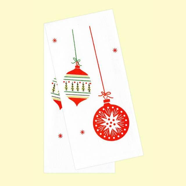 christmas ornaments cotton kitchen dishtowel set includes two flour rh pinterest com