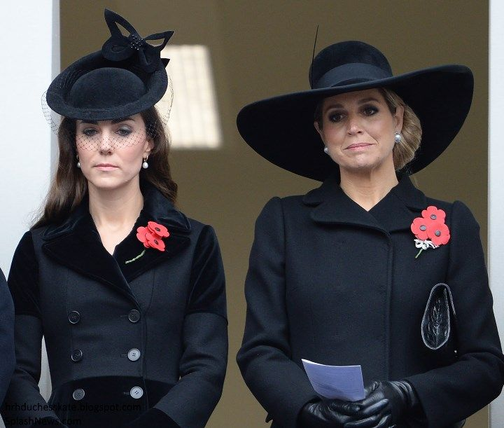 duchesskate: Remembrance Sunday, November 8, 2015-Duchess of Cambridge and Queen Maxima of the Netherlands