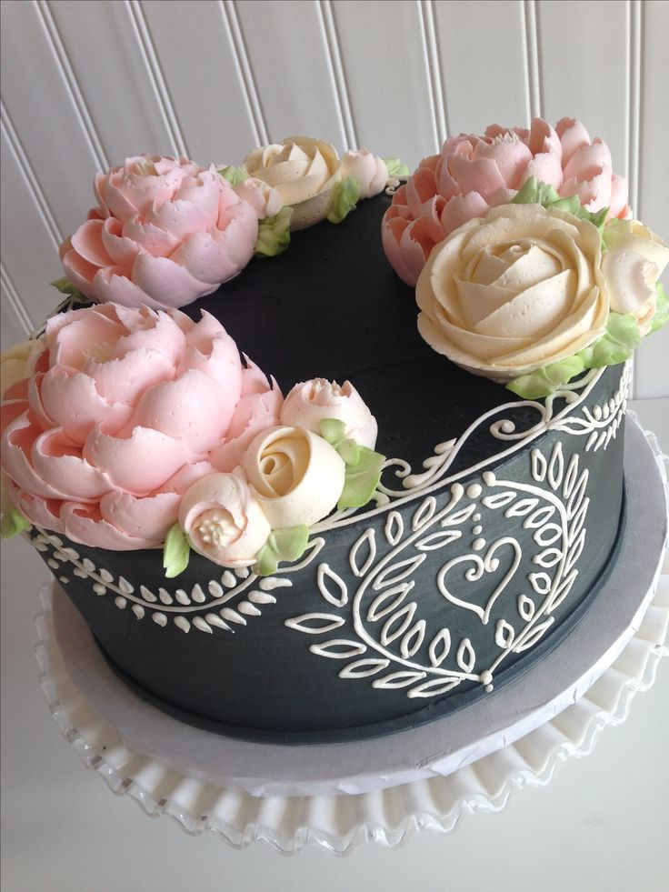 Chalkboard inspired buttercream cake