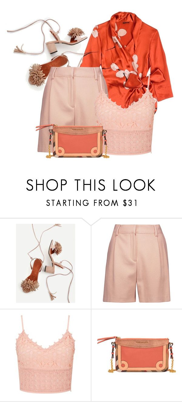 """""""Orange Blush (outfit only)"""" by interesting-times ❤ liked on Polyvore featuring Carla Zampatti, McQ by Alexander McQueen, Miss Selfridge and Burberry"""