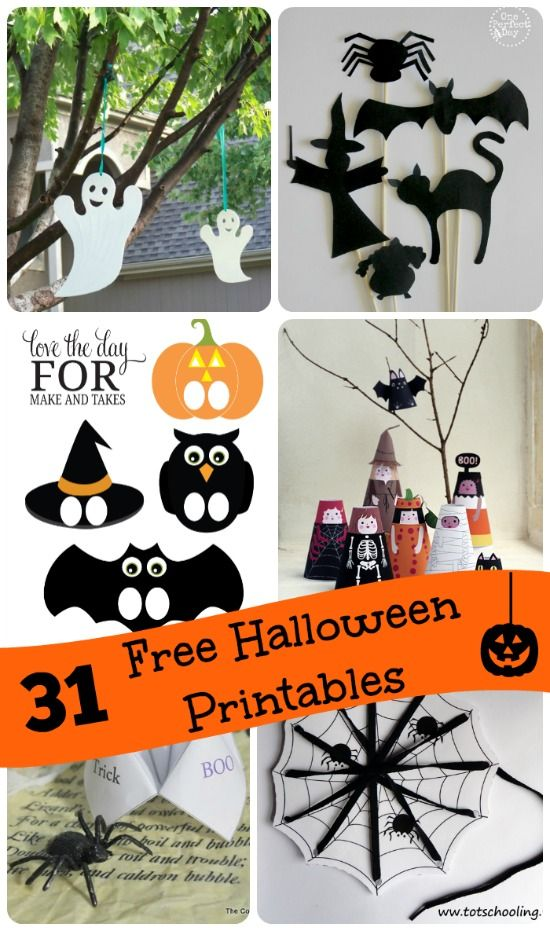 Free printable Halloween Activities for Kids - one for each day in October…