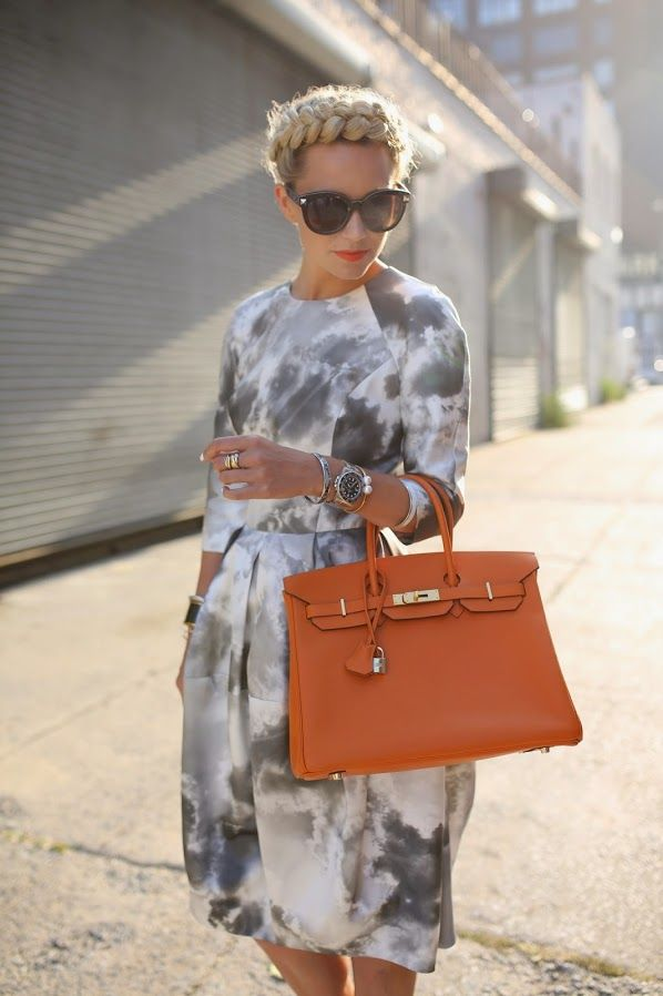 Zimmermann dress, Hermes bag #NYFW | Via atlantic-pacific.blogspot.com