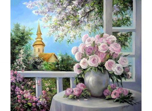 «Летний букет» Анка Булгару Картина по номерам, картина-раскраска по номерам, раскраска по номерам, paint by numbers, купить картину по номерам - Zvetnoe.ru - картины по номерам, алмазная мозаика
