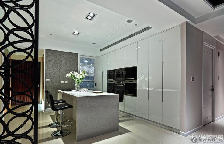 Contemporary semi-open kitchen decoration